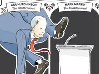 Asa Hutchinson and Mark Martin