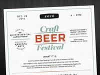 Craft Beer Festival Facelift