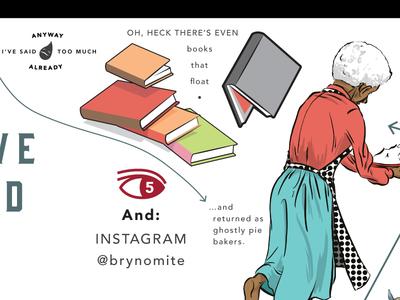 Detail of some self promotion #2 instagram illustration design self promotion books