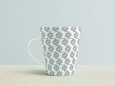 Two-Twelve° Bagels Pattern WIP pattern bagel logo black and white lines