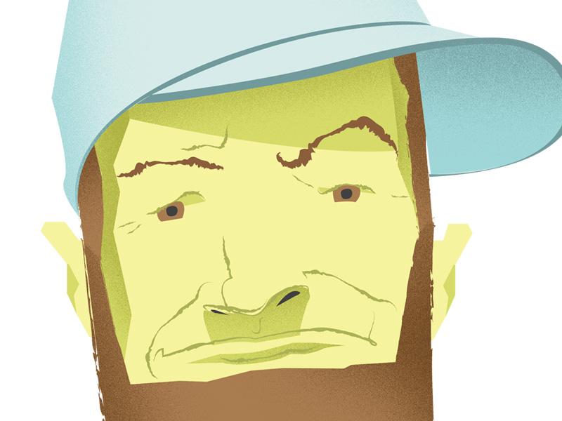 Beard 3 beards arkansas illustration