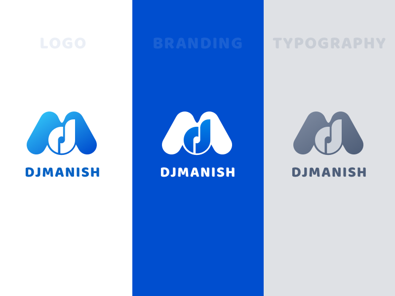 Logo Designing Dj Manish By Atul Kaushal On Dribbble