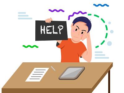 Help graphic design vector logo illustrator animation illustration flat design design