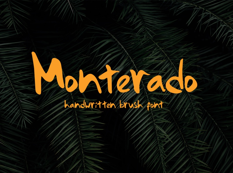 Monterado - Handwritten Brush Font handwritten fonts fontself handwritten fonts font awesome typography typeface type lettering font
