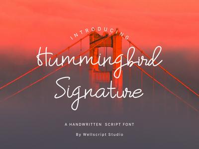 Hummingbird Signature Font