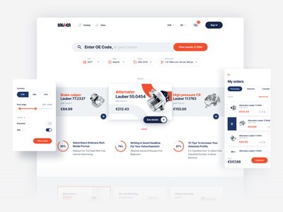 Lauber: Integrating various systems into one e-commerce platform lauber light parts car web design ux ui