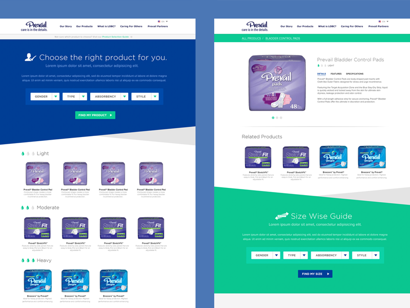Prevail products dribbble