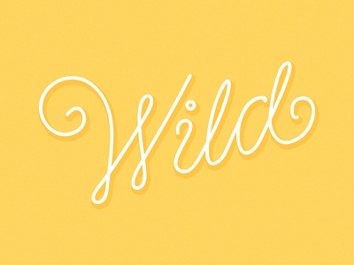 Wild lettering