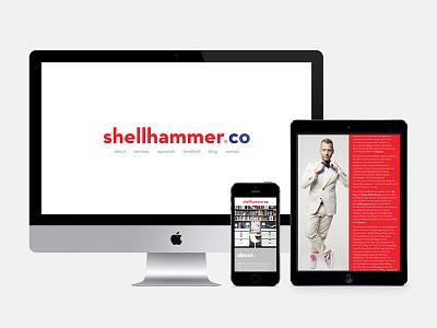 shellhammer.co web design logo branding responsive devices website