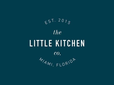 The Little Kitchen Co. stamp seal typography type logo branding