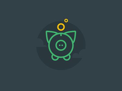 Piggy Bank piggy bank pig icon illustration