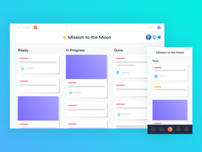 Abstracted Boards marketing product ui kanban boards