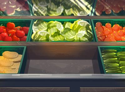 Migros İyilik Sacan Eller agriculture animation grocery supermarket food vegetable fruit illustration