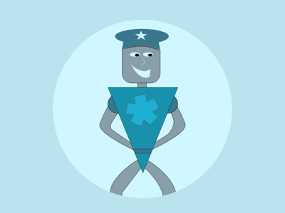 Captain Captcha illustration vector