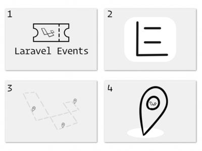 Laravel Events Logo Ideas illustration laravel logos