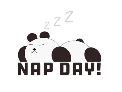 National Nap Day! panda bear panda vector illustration