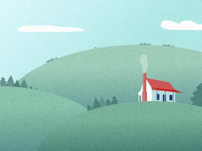 Laravel Homestead Illustration landscape affinitydesigner illustration vector laravel