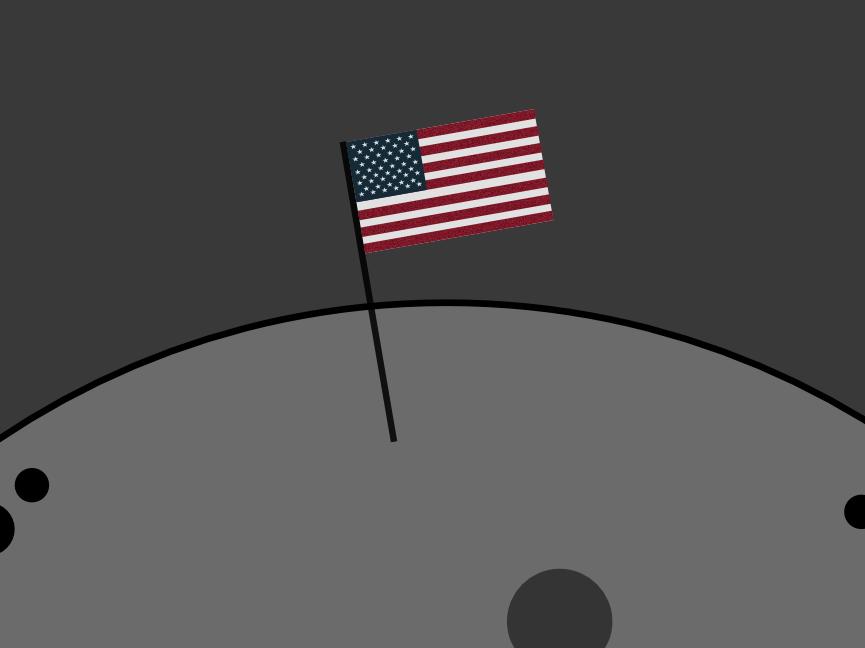 Celebrating The Moon Landing Anniversary illustration vector