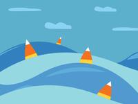 Candy Corn Sail Boats affinitydesigner illustration inktober2019