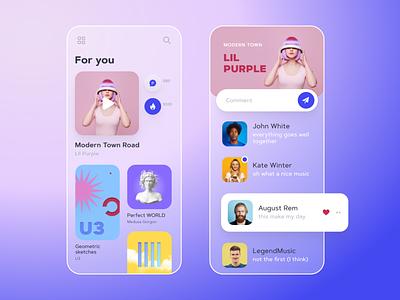 Music app mobile ui mobile app uidesign ui