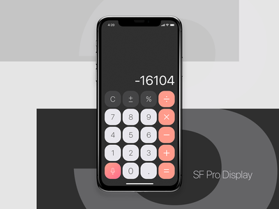 Calculator typography calculator app calculator ui design mobileui dailyui uidesign ui calculator
