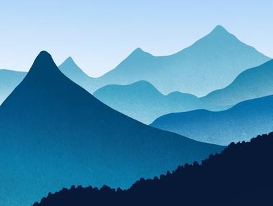 Mountains 🏔 dribble illustrator art artist procreate painting illustration digitalart