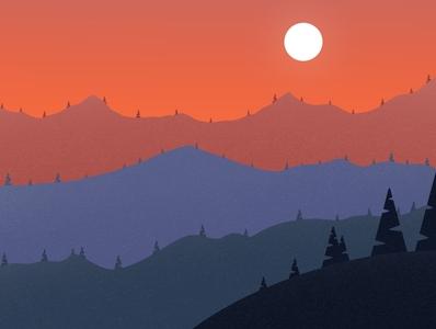 Mountains lamdscape design galshir art artist painting procreate dribble illustrator digitalart illustration