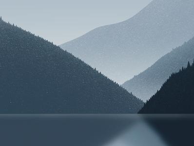 Scandinavia fjords gallery galshir design art artist illustrator digitalart dribble procreate illustration