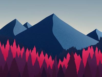 Mountains - Landscape art dribbble galshir design illustrator procreate illustration artist digitalart