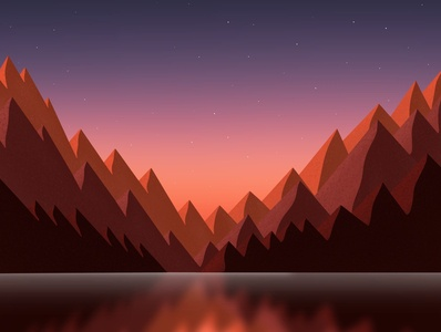 Mountainsss! ⛰ art design gallery dribbble galshir illustrator artist digitalart illustration procreate app procreate