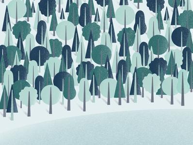 Magical forest gallery artist dribbble design art galshir illustrator procreate illustration digitalart