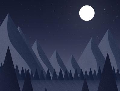 Dark night artist galshir art illustrator procreate illustration digitalart