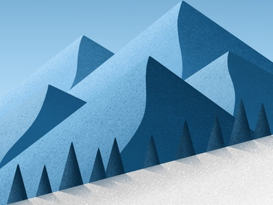 Winter ❄️ dribbble design art illustrator artist illustration digitalart winter is coming mountains app procreate