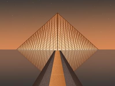 Paris Louvre gallery dribbble design galshir art illustrator procreate illustration digitalart artist