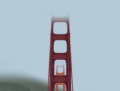 San Francisco gallery dribbble design galshir illustrator art illustration digitalart artist procreate