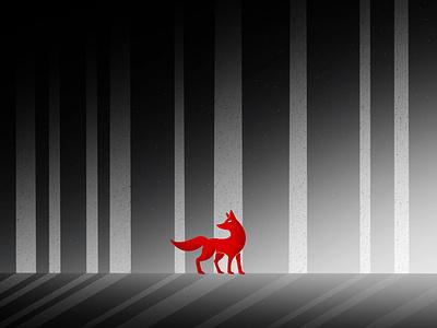 Red Fox painting gallery dribbble design galshir art illustrator digitalart artist procreate illustration