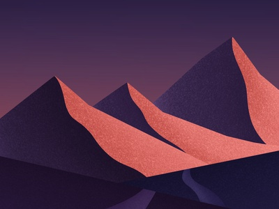 Mountains dribbble art galshir illustrator illustration digitalart artist procreate night sun colorful mountains