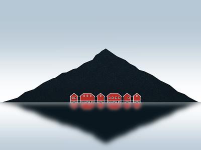 Norway design galshir art illustrator illustration digitalart artist procreate blue white red colorful winter