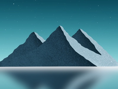 Mountains art gallery dribbble illustrator illustration digitalart artist procreate sky blue colorful top mountains