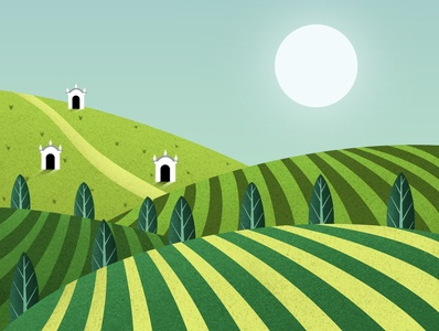 Moravia art dribbble design illustrator illustration digitalart artist procreate hills green colorful wine