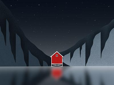 Norway Lands gallery dribbble design art galshir illustrator illustration digitalart artist procreate landscape nature