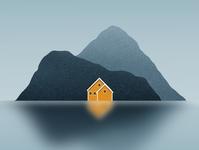 Lofoten dribbble galshir design art illustrator illustration digitalart artist procreate nature norway