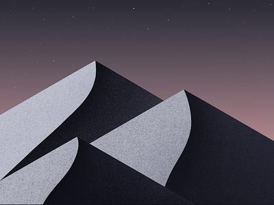 Mountains mountains gallery dribbble galshir illustrator illustration digitalart artist procreate design