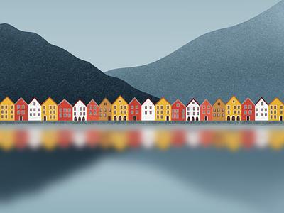 Bergen design galshir dribbble colorful procreate app illustrator illustration artist digitalart bergen procreate