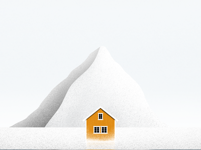 Winter in Norway art illustrator illustration digitalart artist procreate