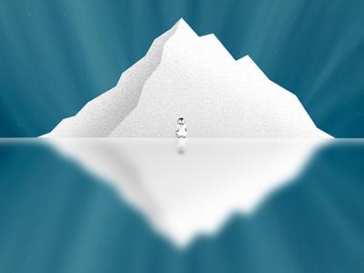 Penguin art dribbble arctic illustrator illustration digitalart artist procreate