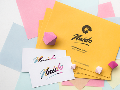 Branding & Stationary papercraft colourful business cards envelopes stationary branding
