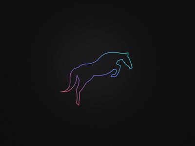 MÜLA Logo layout logotype ui mobile black dark logo gradient horse branding