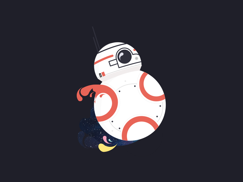 May the fourth be with you character space fanart bb8 vector robot star wars illustration design bb-8