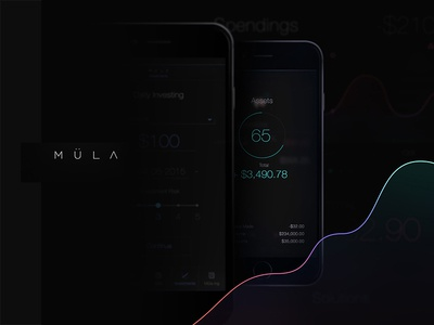 Layout for MULA App typography color branding brand identity ux interface ui layout ios mobile app